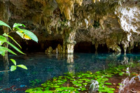 Cenote at Yucatan Peninsula Mexico